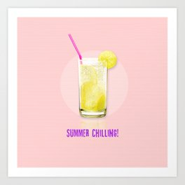 Summer Chilling! Art Print