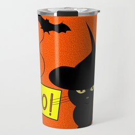 Cute cat on Halloween Travel Mug