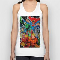 superheros Tank Tops featuring Heroes Unite by JayKay