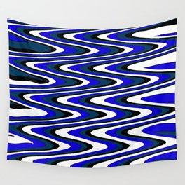 Monochromatic blue slur Wall Tapestry