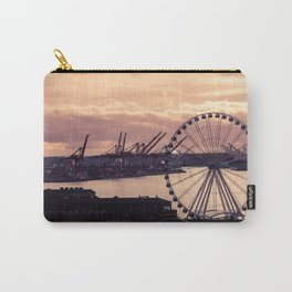 Sunset Over Seattle's Elliot Bay Carry-All Pouch