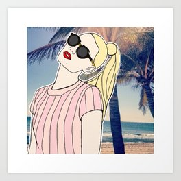 Paradise Iggy Art Print