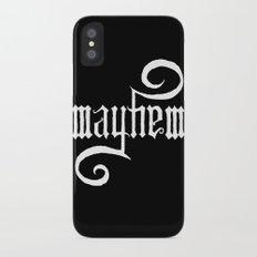 Unleash MAYHEM (Black) Slim Case iPhone X