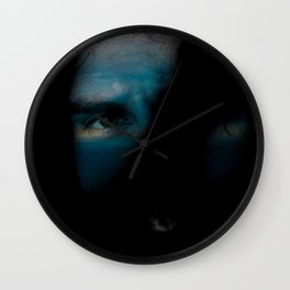 Face and clouds dream Wall Clock