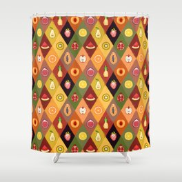 Fruit Salad Pattern Shower Curtain