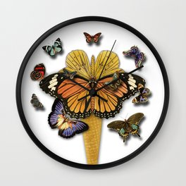 BUTTERFLIES ICE CREAM Wall Clock