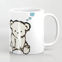 teddy bear Mugs featuring Teddy by RaJess
