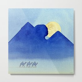 Giza By Moonlight Metal Print