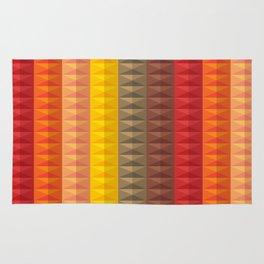 Bold Geometric Stripes Rug