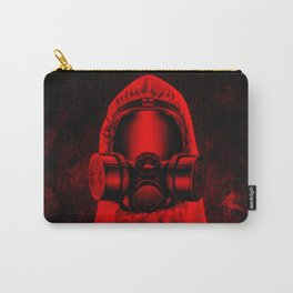 Toxic environment RED / Halftone hazmat dude Carry-All Pouch