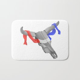 Patriotic Cow Skull Bath Mat