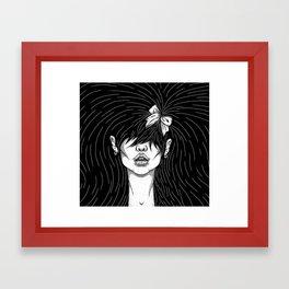 Girl With a Ribbon  Framed Art Print