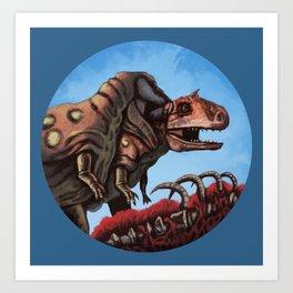 Dinosaur Cannibalism Art Print