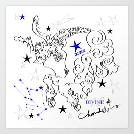 Taurus:calligraphic Art Print