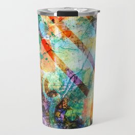 Crayon Box Collage Travel Mug