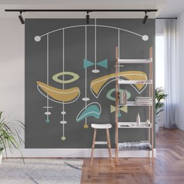 Swank Mid Century Modern Abstract Wall Mural