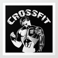 crossfit Art Prints featuring Crossfit by Line Jenssen