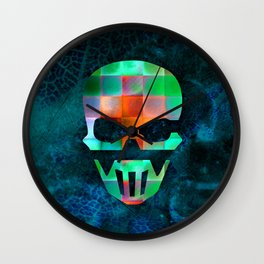 CHECKED DESIGN II - SKULL Wall Clock