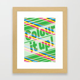 Colour it up! Framed Art Print