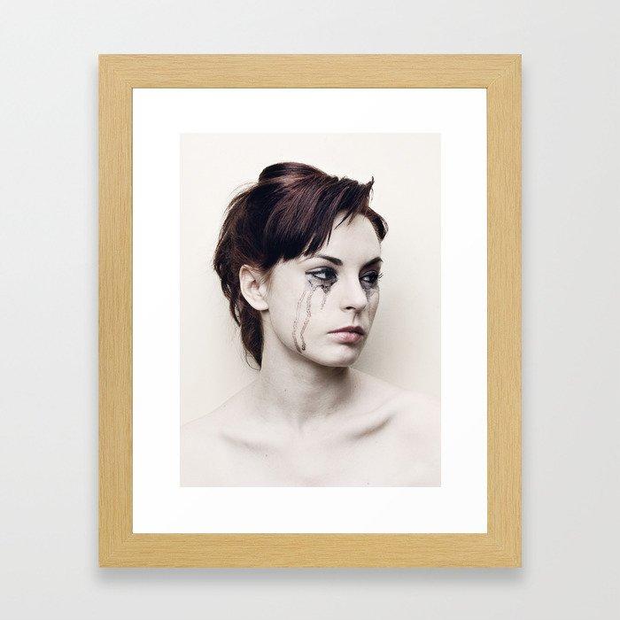 black tears Framed Art Print