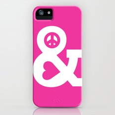 Peace and Love (pink edition) Slim Case iPhone (5, 5s)