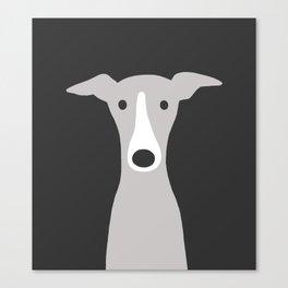 Cute Greyhound / Italian Greyhound Canvas Print