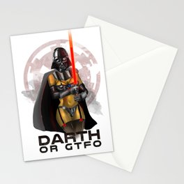 Darth or gtfo Stationery Cards