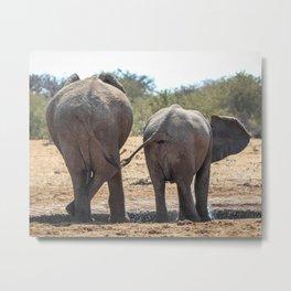 Elephant Love 3 Metal Print