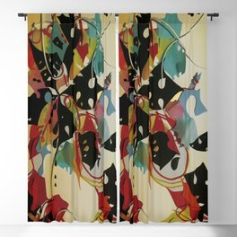 Rainbow Floral- Fantasy Decoupage  Blackout Curtain