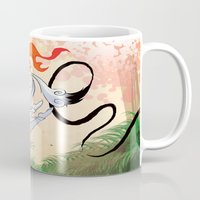 okami Mugs featuring VIDEO GIRLS: Okami by Marques Cannon