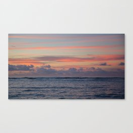 // between the waves Canvas Print