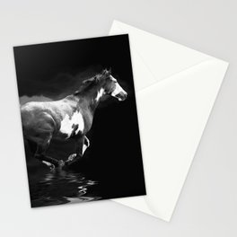 Galloping Pinto Horse Stationery Cards