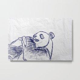 Panda doodles Metal Print