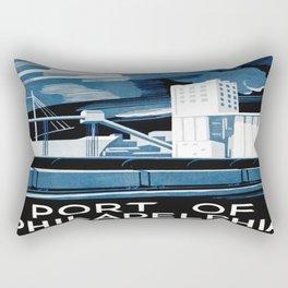 Vintage poster - Port of Philadelphia Rectangular Pillow