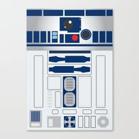 r2d2 Canvas Prints featuring R2D2 by ANDY