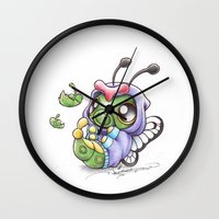 projectrocket Wall Clocks featuring Just wanna be Free! by Randy C