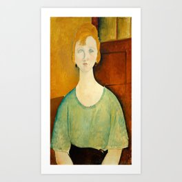 "Amedeo Modigliani ""Girl in a green blouse"" Art Print"