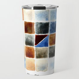 Color Chart - Burnt Sienna (W&N) and Cerulean Blue (DS) Travel Mug