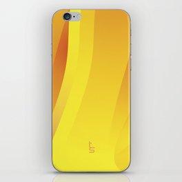 Yellow-Orange Flame iPhone Skin