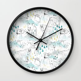 High in the Mountains Wall Clock