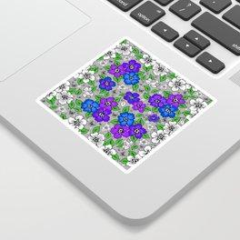 Floral background Sticker