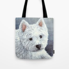 Dog 137 White Westie Tote Bag