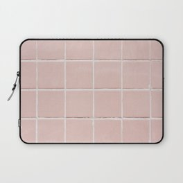 Light Pink Tile Background Texture Throw Pillow and More Laptop Sleeve