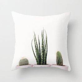 Trendy cactus plants Throw Pillow