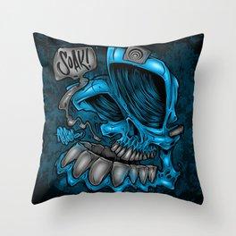 Soaker Skull Throw Pillow