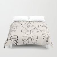 bows Duvet Covers featuring bows by courtneeeee