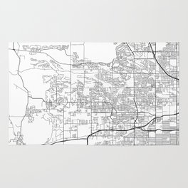 Minimal City Maps - Map Of Arvada, Colorado, United States Rug