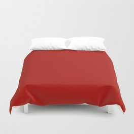 Simply Hot Summer Red - Mix and Match with Simplicity of Life Duvet Cover