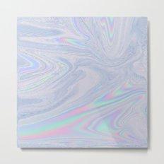 Bright Pastel Oil Slick Metal Print