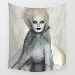 Alabaster Ghost Bride Wall Tapestry